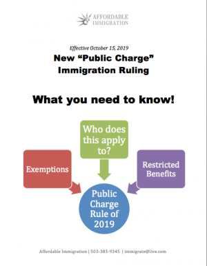 Public Charge Ruling 2019